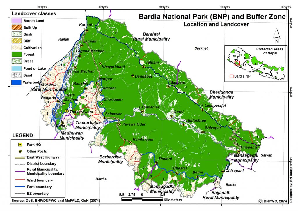 Bardia National Park Map