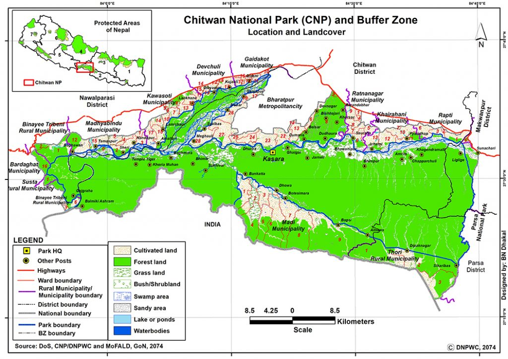 Chitwan National Park Map