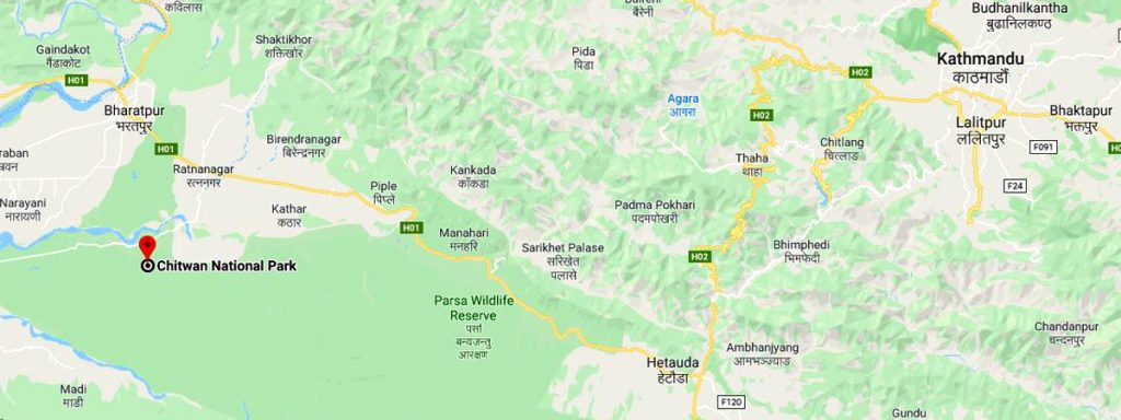 Location of Chitwan NP
