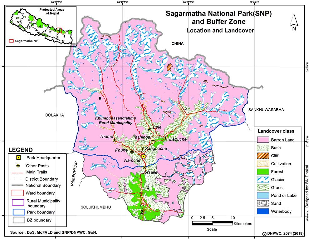 Sagarmatha NP Map