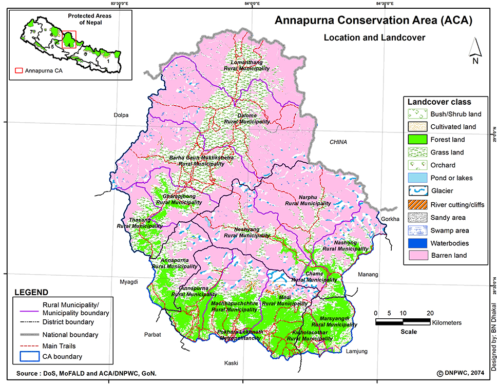 Annapurna Conservation Area Map